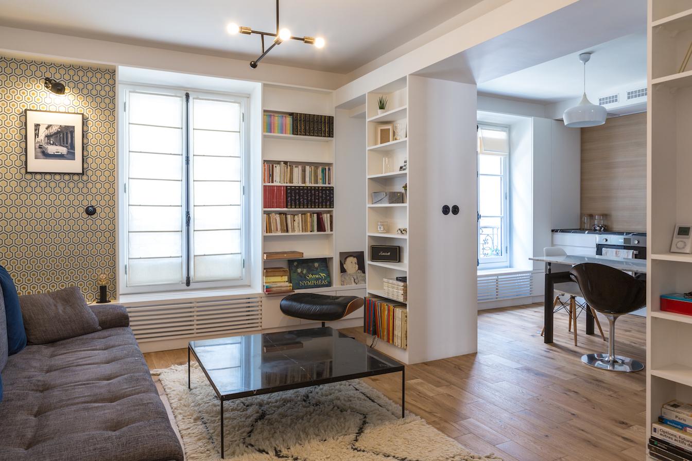 living room magenta